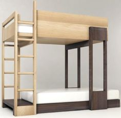 simple-transforming-wooden-bunkbeds With all of the more elaborate bunk beds available, designed to cater to creative children, there is something to be said for simple, safe, stylish and flexible bunk bed designs that even an adult could get into.  Read more: http://dornob.com/simple-modular-wooden-bunk-beds-to-stack-or-stagger/#ixzz3AK79X7ip