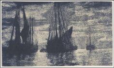 Heinrich Kühn (1866-1944), Bateaux sur la Mer - 1900/10.