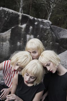 Charlotte Abramow: STRANGE BLONDES by Charlotte Abramow fashion by...