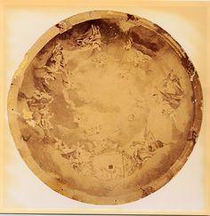 """El cielo de la Festa pintado por el artista local José Gonzálvez """"Paraes"""" en 1867 #MisteridElx Foto: Pedro Ibarra (1901)"""