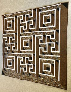Labyrinth quilt 72 x 72 machine quilted Full size bed 3 | Etsy Tree Curtains, Quilted Gifts, Bachelorette Gifts, Custom Quilts, How To Make Bed, Monogram Letters, Machine Quilting, Little Gifts