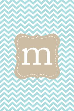 chevron walpapers with intials m.