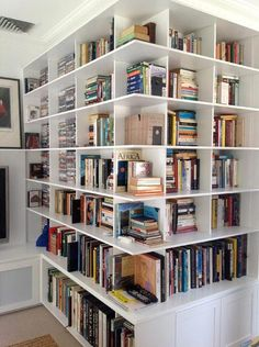 Shelving Around Corner - Decoration For Home Home Library Rooms, Home Library Design, Dream Library, Home Libraries, House Design, Built In Bookcase, Bookshelves, Home Upgrades, My Dream Home