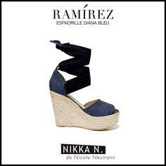 Espadrilles Ramirez Nikka verano 2015 modelo Diana bleu disponible en tienda Ramirez Peru 587 y en nuestro Showroom Humboldt 1550 of 111 #ramirez #nikka #crueltyfree #espadrilles #diana #zapatos