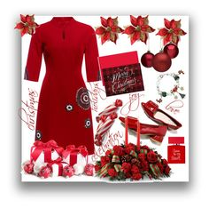 """Christmas style"" by natalyapril1976 on Polyvore featuring Masterpiece Cards, Bella Freud, Christmas, outfit and look"
