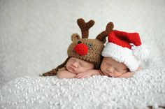 Crochet reindeer hat, Rudolph the Red Nose Reindeer, Crochet Baby Christmas Hat, Newborn Photography Prop, Boy girl Holiday hat