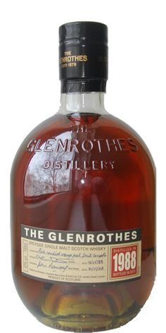 Glenrothes Whiskey has a nice bottle. I also lived in Glenrothes for a while.