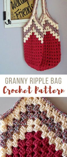 kinda obsessed with this crochet bag right now. i've already made it in the colors pictured and now working on 2nd one for Lacey in a blue and gray. probably be really cool in cotton yarn too. pattern works up super quick #crochetbag #crochetbagpattern #crochettotebag #crochetpatterns #crochetgrannystripe #crochet #crochethandbag #affiliate