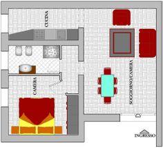 En este piso hay cuatros habitaciónes: - un dormitorio, - una cocina, - un cuarto de baño,  - un salón. Es un piso pequeño pero acogedor, ideal y cómodo para dos personas.