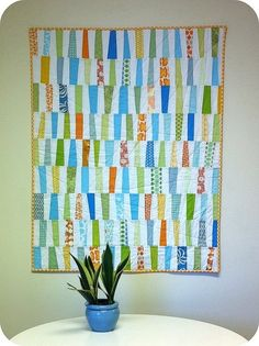 The Wonky Quilt by Cara {Me? A Mom?}, via Flickr by mary.simeon.5