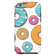 Bright Donut Whimsical Pattern Barely There iPhone 6 Case