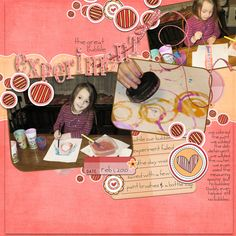 It's fun to experiment! This layout was made by CT Member Liz from Ohio using Kathryn Estry Kissy Kissy! http://www.mymemories.com/store/product_search?term=kissy+kissy