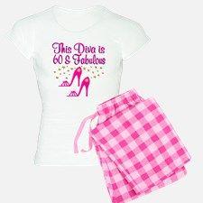 60TH DIVA Pajamas Celebrate turning 60 in our awesome 60th Birthday pajamas. http://www.cafepress.com/jlporiginals/6515962 #60thbirthday #60yearsold #Happy60thbirthday #60thbirthdaygift #60thbirthdayidea #personalized60th  #happy60th