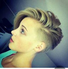 Amazing undercut yet still a soft hairstyle