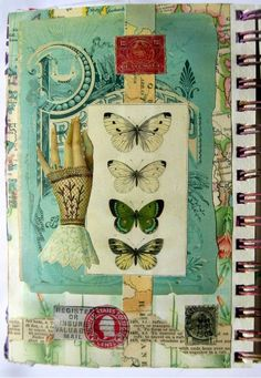 The latest pages in my art journal. I made gluebook pages. Creating art in gluebook style means just gluing down paper - no emb...