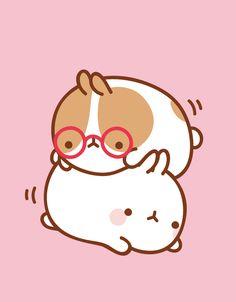 Molang kawaii kawaii drawings, kawaii wallpaper ve cute draw Cute Bear Drawings, Kawaii Drawings, Funny Bunnies, Cute Bunny, Cartoon Drawing Tutorial, Drawing Tutorials, Cutest Bunny Ever, Cute Animal Tattoos, Molang