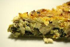 Ingredientes: 2 ovos grandes 1 pacote de natas (usei 3 queijos parmalat) sal pimenta em grão noz-moscada 500 gr de frango cozido e ...