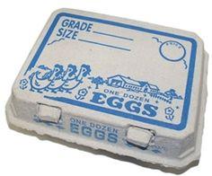 Vintage Egg Cartons - Vintage Style 3 X 4 Egg Cartons