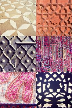 Wanderlust Patterns Indian - On fabrics and architecture!