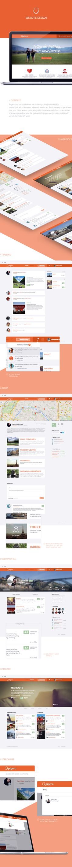 Pigero - social network website design on Behance