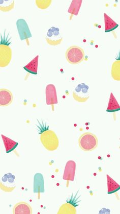 Fondo frutas y paletas