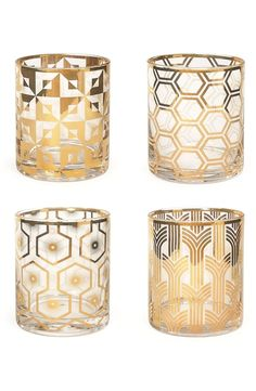 These gold art deco glasses are so cute! They're going to be perfect for entering and holiday parties. Will probably pick up a couple sets from the #NSale this weekend.