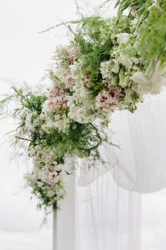 Hanging florals. The Style Co.  I like the softness of the greenery here.