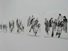 """Exhibition view """"En mouvement"""". Lille"""
