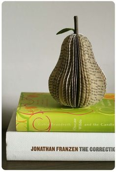 reuse books | Pear out of an old book | Ways to reuse old books