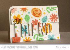 Hello Friend Card from Alice Wertz featuring Modern Blooms stamp set and Friend Die-namics