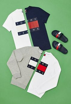 tommy hilfiger ss16 collection 90s sweatshirts tees sliders