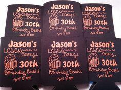 Legen...dary 30th birthday   #30thBirthday #BeerKoozies #Koozies #CustomKoozies #BirthdayKoozies #Birthday #OdysseyCustomDesigns