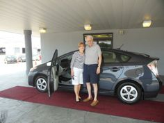 Lynn and John Bick and their new Toyota Prius! Thanks from David, Jessie, Seri and all of us at Lakeside Toyota