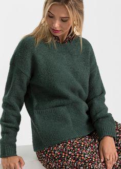 Bpc Bonprix Collection Damen Oversize Pullover Oliv