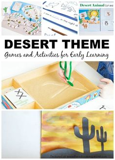 Desert Theme Games and Activities for Early Learning. Desert art, desert writing and more. Great for learning centers.  Desert activities recommended for use with Ages 3-8