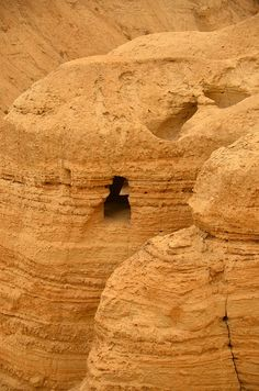 Qumran Dead Sea Scroll Site - Israel Cave 4 where the Isaiah scroll was discovered