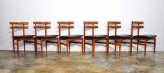 Set 6 Model 30 Poul Hundevad Danish Modern Dining Chairs Mid-Century Kristiansen