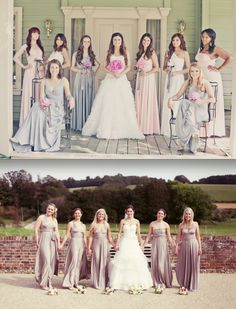 Convertible bridesmaid dresses - Grey?