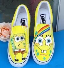 spongebob shoes <3 I would totally wear these!!!