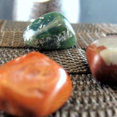 #Tumbled #Stone #Set of 3 #Minerals, #Moss #Agate #Brown #Jasper and #Picture Jasper