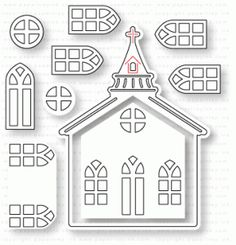 Papertrey Ink - Tiny Town: Church Die