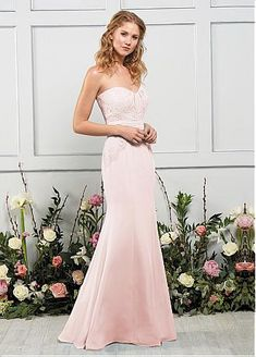 Stunning Lace & Chiffon Sweetheart Neckline Mermaid Bridesmaid Dress