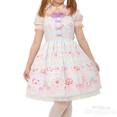 Whip showcase dress Brand: Angelic pretty ¥ 18,990 tax No notation size Length: 89cm Polyester: 100% Shearing: Yes Rank B: dirt-free used clothes Used Lolita clothing shop Wunderwelt http://www.wunderwelt.jp/products/detail1668.html