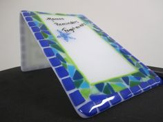 By the Sea fused glass memo board by JanuaryMayDesigns on Etsy