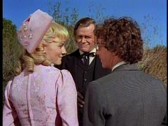 Nellie and Percival-- Little House on the Prairie.  Back view of Nellie's wedding dress
