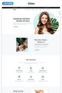 Glory - Divine Beauty Salon Multipage Website Template, Source by beauduppoasqq salon Clean Web Design, Web Design Tips, Design Strategy, Web Design Trends, Layout Design, Web Layout, Design Color, Website Design Inspiration, Ui Inspiration