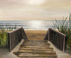 The Beach Painting  - The Beach Fine Art Print