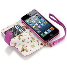 IPHONE 5 PREMIUM PU LEATHER WALLET CASE WITH FLORAL INTERIOR - HOT PINK by Terrapin, http://www.amazon.com/dp/B008OSESY4/ref=cm_sw_r_pi_dp_fzW7qb0ZSGSC4