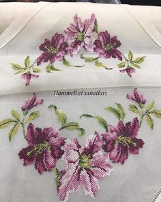 Cross-stitch work on silk fabric with silk thread. Cross Stitch Rose, Modern Cross Stitch, Cross Stitch Flowers, Cross Stitch Designs, Cross Stitch Patterns, Brazilian Embroidery Stitches, Hand Embroidery Stitches, Cross Stitch Embroidery, Embroidery Designs