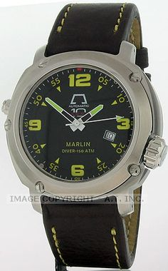 View this Anonimo Watch at About Time Watch Company by Clicking Here http://www.abouttime.com/abouttime/an7001-ss-black-dial.invt.htmlAnonimo Marlin Watch Model #an7001-ss-black-dial